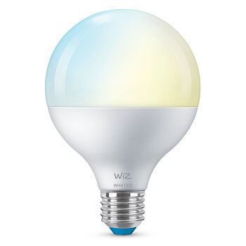 WiZ WiFi Smart LED E27 Glob G95 75W Varm-kallvit