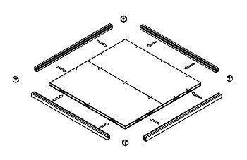 Frysrum KIDE UNIVERSAL  B:3000 x D:3400 x H:2200. Inkl golv, dörr och frakt.