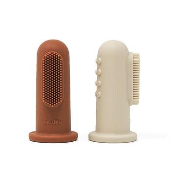 Fingertandborste brun/beige