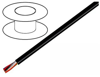 Kabel 4x0,25 mm² svart