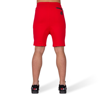 Alabama Drop Crotch Shorts, red