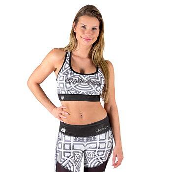 Pueblo Sport Bra, black/white
