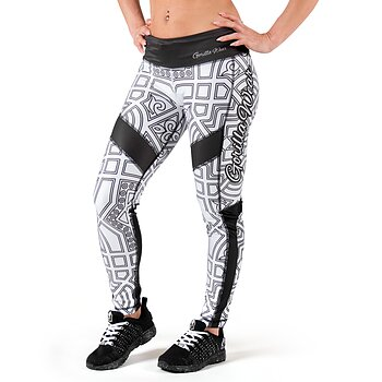 Pueblo Tights, black/white