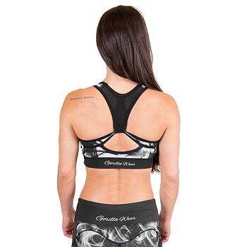 Phoenix Sport Bra, black/white