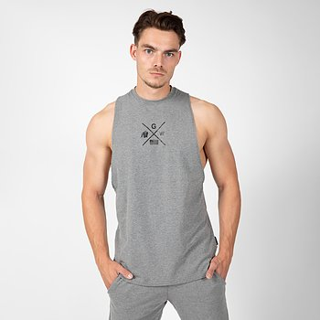 Cisco Drop Armhole Tank Top, grey/black