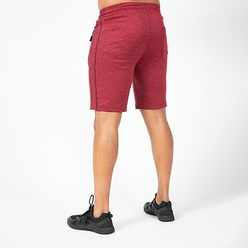 Wenden Track Shorts, burgundy red