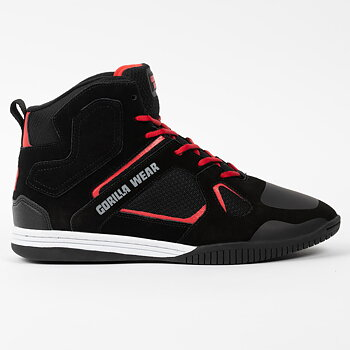 Troy High Tops, black/red