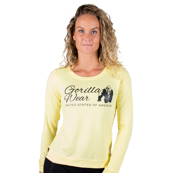 Riviera Sweatshirt, light yellow