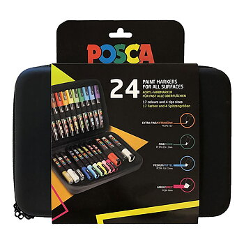 Markerpennor Posca Marker Gift Case 24-set