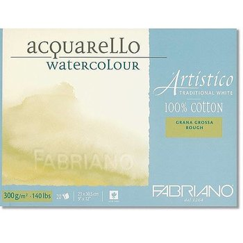 Fabriano Akvarellblock Traditional White 300gr Grov gäng 30,5x45,5cm 20ark