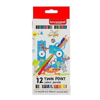 Färgpennor Bruynzeel TwinPoint 12-st