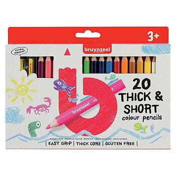 Färgpennor Bruynzeel Thick&Short  20-st