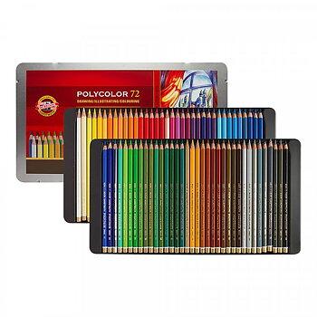 Färgpennor Polycolor Koh-i-Noor 72-set