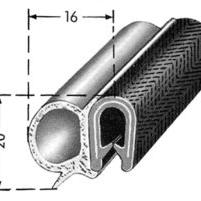 Gummilist vindruta inre till -52