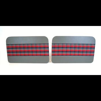 Dörrpaneler fram sats  Blå/röd