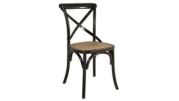 Matstol, svartpatinerad