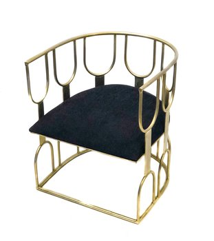 THG Art Deco Chair Black Velvet