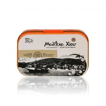 Greek Natural Chios Mastic Mastiha Medium Tears 20g P.D.O. metall box