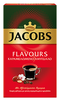 Jacobs flavours, kaffe, sockrade mandlar 250g
