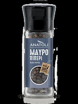 Anatoli, svart peppar, kvarn, 45g