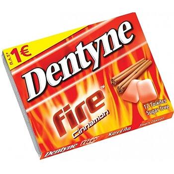 dentyne ,tuggummi sugar free, cinnamon  flavour, 12bitar