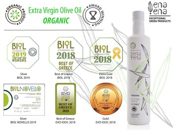 Extra Virgin Olive Oil Organic 500ml, PGI OLYMPIA