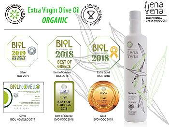 Extra Virgin Olive Oil Organic 500ml, PGI OLYMPIA