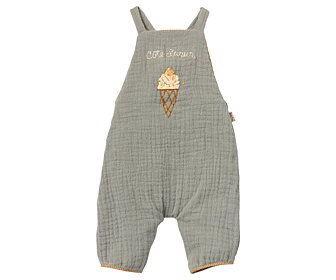 Maileg - Overall Dusty blue, size 4