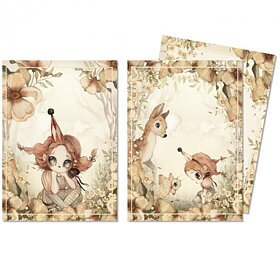 Mrs Migetto - 2-pack Kort A6, The Floral Glade