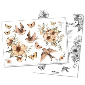 Mrs Mighetto - Temporary Tattoos Flowers & Flying Friends