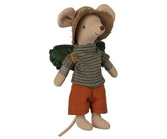 Maileg - Hiker Mouse, Big brother