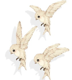 Mrs Mighetto - Wall stickers 3-pack Oh birdie fly!