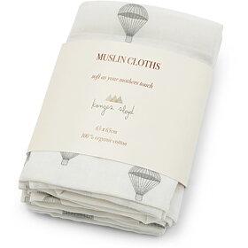 Konges slöjd - 3 pack Muslinfiltar Prachute cream