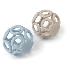 Liewood - Bitleksak, 2-pack boll Sandy sea blue mix