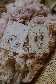 Mrs Mighetto - 2-Pack kort Ellie & Meow