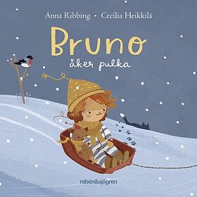 Bruno åker pulka