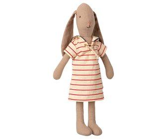 Maileg - Bunny size 2 Sailor randig klänning