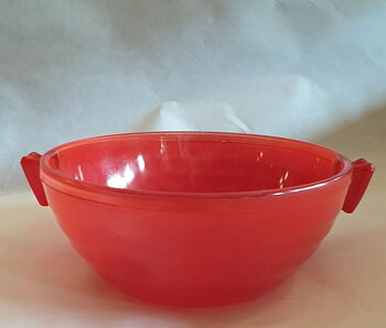 Phoenix red cooking bowl ovenproof