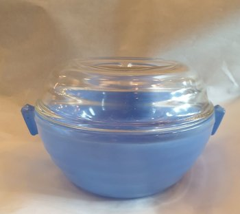 Phoenix light blue cooking bowl ovenproof