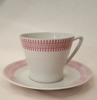 Karla tea cup with saucer pink