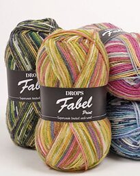 DROPS Fabel Long Print