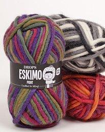 DROPS Snow/Eskimo Print