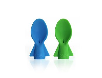 Cherub Baby Skedar till klämpåsar - blå/grön