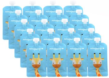 20-pack Minsqueeze Giraffe klämpåse 220 ml