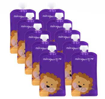 10-pack Minsqueeze Lion klämpåse 220 ml