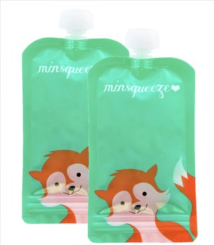 2-pack Minsqueeze Fox klämpåse 220 ml