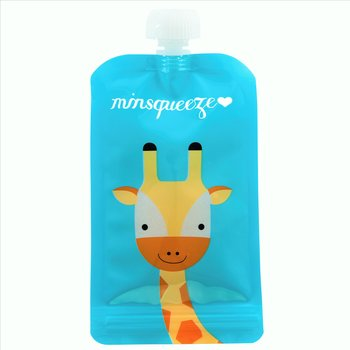 1-pack Minsqueeze Giraffe klämpåse 220 ml
