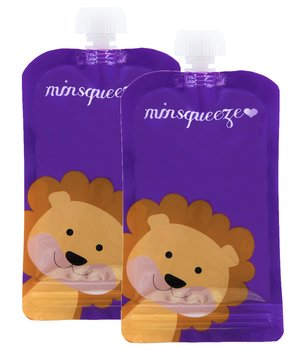2-pack Minsqueeze Lion klämpåse 220 ml