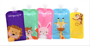 5-pack Minsqueeze Mix klämpåse 220 ml