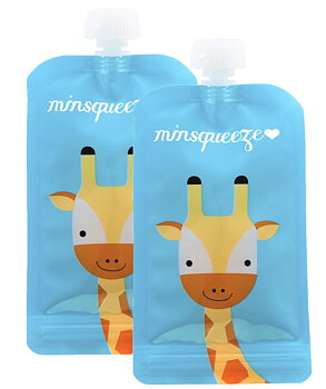 2-pack Minsqueeze Giraffe klämpåse 220 ml